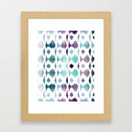 Light As Air Teal Purple Pattern Framed Art Print