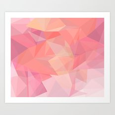 autumn color polygon background Art Print