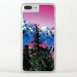 VIVID WINTER Clear iPhone Case