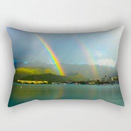 Hawaii Double Rainbow Rectangular Pillow