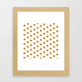 Orange Birkin Vibes High Fashion Purse Illustration Framed Art Print