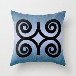 Dwennimmɛn - Adinkra Art Poster Throw Pillow