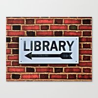 library Canvas Prints featuring Library by Biff Rendar