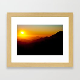 Chilean colors Framed Art Print
