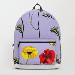 A Garden of Red and Yellow Poppies Backpack