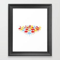25 Chairs Framed Art Print