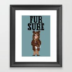 Fur Sure Framed Art Print