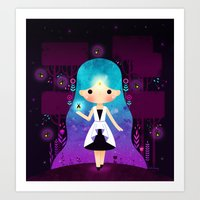 firefly Art Prints featuring Firefly by Luli Bunny