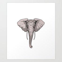 Elephant Giant Boar Big Forest Mammal Animal Gift  Art Print