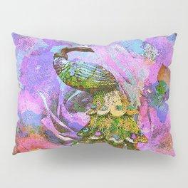 Peacock Watercolor Pillow Sham