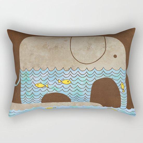 Thirsty Elephant - colour option Rectangular Pillow
