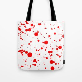 310001 Blood Red and White Painting Tote Bag