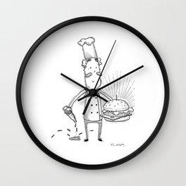 Mr Burger Wall Clock