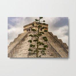 Pyramid of Kulkulkan, Chichen Itza, Yucatan, Mexico  Metal Print