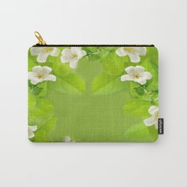 Small White Flowers on Vine Carry-All Pouch