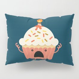 Cupcake on fire Pillow Sham