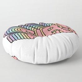 Girl Power grl pwr Retro Floor Pillow
