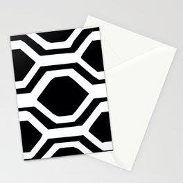 Black and White Geometric Stationery Cards