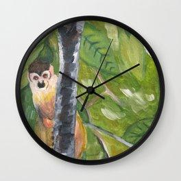 Monkey in Tree Wall Clock