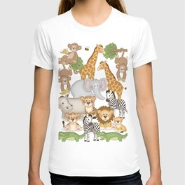 Safari Animals Kids T-shirt