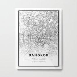 Bangkok Modern Map Metal Print