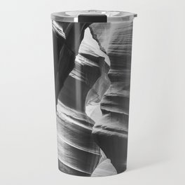 Waves of sandstone at Antelope Canyon Travel Mug