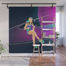 The girl from Saturn by #Bizzartino Wall Mural