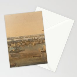 Vintage Pictorial Map of New York City (1844) Stationery Cards