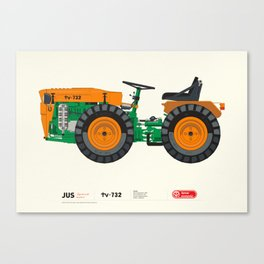 Tractor tv-732 - Tomo Vinković Canvas Print