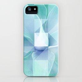 Soft Geo Agave - Aqua and blue iPhone Case