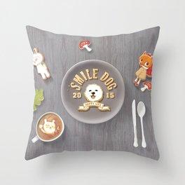 SmileDog Icing Cookies Throw Pillow