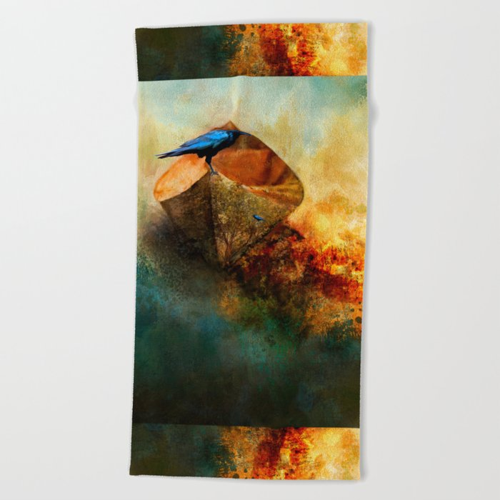 Beached Crow Beach Towel