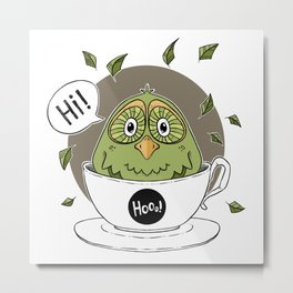 A Cup of Cuteness Metal Print
