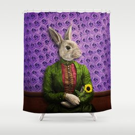 Miss Bunny Lapin in Repose Shower Curtain