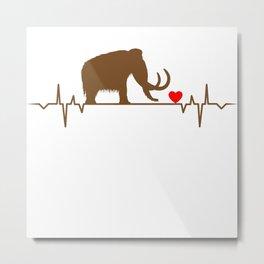 Mammoth Heartbeat Animal Love T-Shirt Metal Print