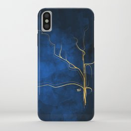 Kintsugi Electric Blue #blue #gold #kintsugi #japan #marble #watercolor #abstract iPhone Case