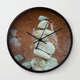 Stacked Rocks Wall Clock