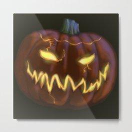 Scary Jack o'lantern Metal Print