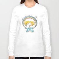 meditation Long Sleeve T-shirts featuring Meditation by yulyasha_kudryasha