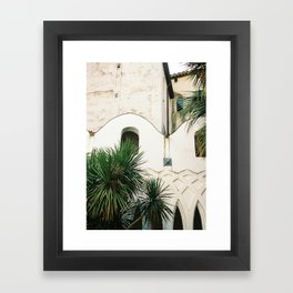 Italian architecture on the Amalfi coast | Travel photography Italy Europe Framed Art Print