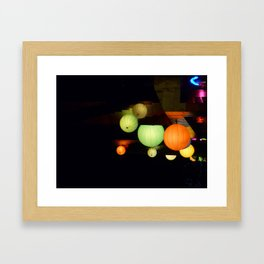 Colours in the night Framed Art Print