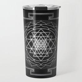 Sri Yantra XI - Black & White Travel Mug
