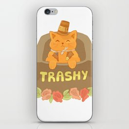 Cup-hat Kitty iPhone Skin