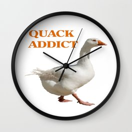 Strolling Duck Quack Addict Wall Clock