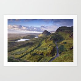 The Lie of the Land Art Print
