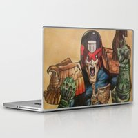 law Laptop & iPad Skins featuring I AM THE LAW by DeMoose_Art