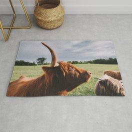 Majestic Highland Cow II Rug