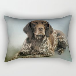 Waiting For A Cue - German Shorthaired Pointer Rectangular Pillow