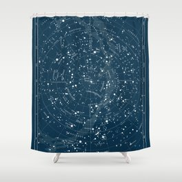 Visible Constellations Astronomy Astrology Shower Curtain
