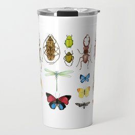 The Usual Suspects - insects on white Travel Mug